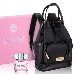 Versace Parfumes small drawstring black backpack